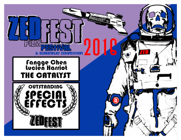 "Outstanding Special Effects, Mechanism Digital, Lucien Harriot, ""The Catalyst,"" Zed Fest Film Festival"