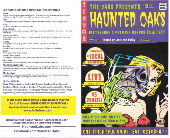 Haunted Oaks Film Festival Program (outside)