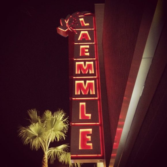 Marquee of the Laemmle 7, North Hollywood, home of Zed Fest Film Festival 2016